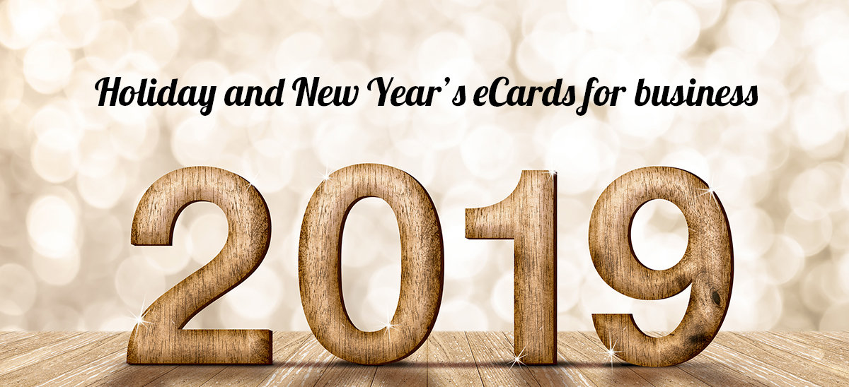 Holiday and New Year's eCards for business.
