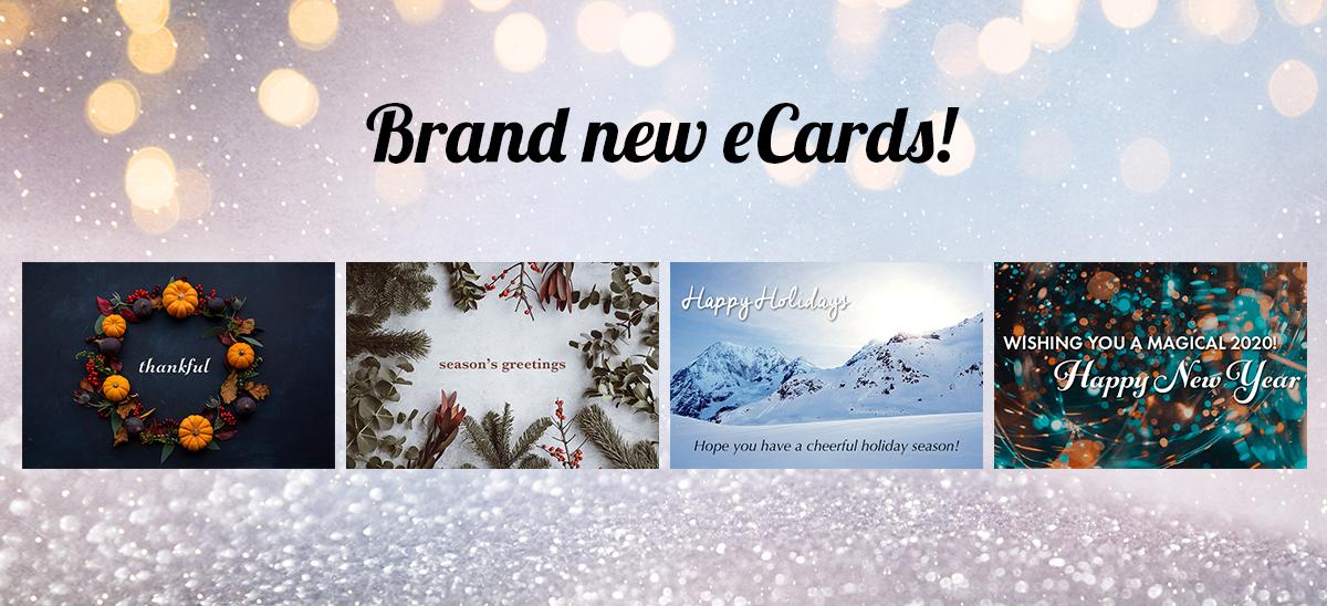 Brand new eCards!