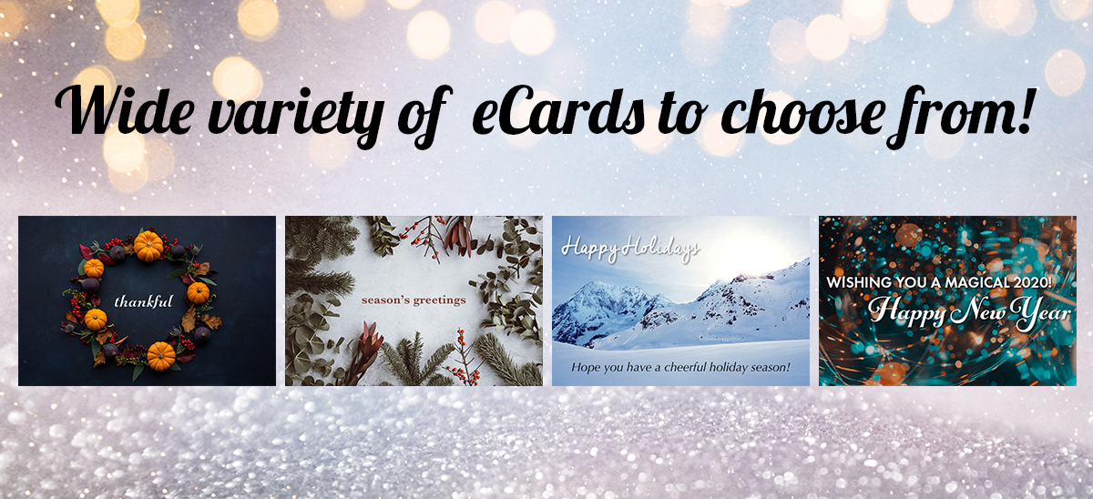 Wide variety of eCards to choose from!