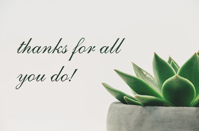 Thanks for all you do!