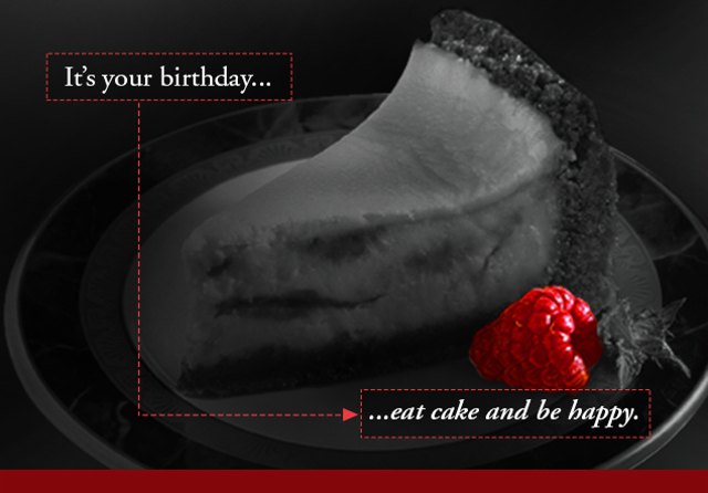 It's your birthday... eat cake and be happy!