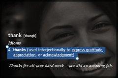 Definition Thankyou