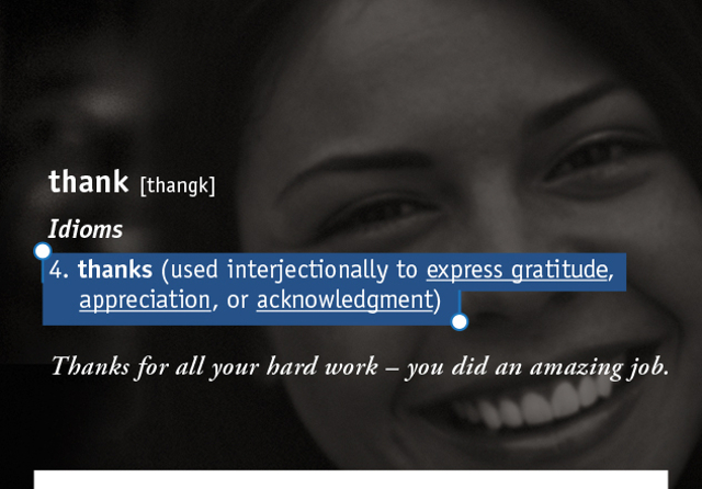 thank [thangk]