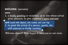 Definition Welcome