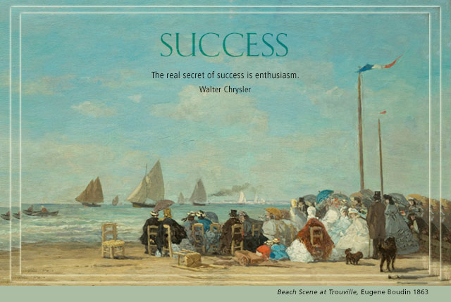 Success - The real secret of success is enthusiasm. -- Walter Chrysler