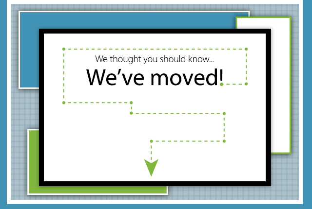 Moving Announcement eCard We thought you should know...We've moved!