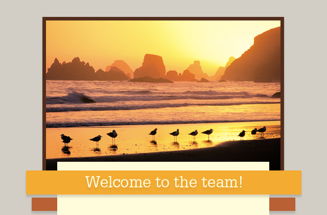 Welcome to the team eCard