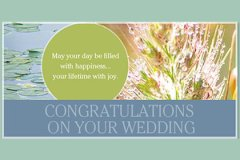 Macro Congrats Wedding