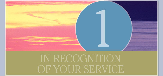 In recognition of your service - 1 year