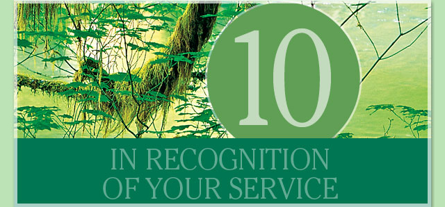In recognition of your service - 10 years