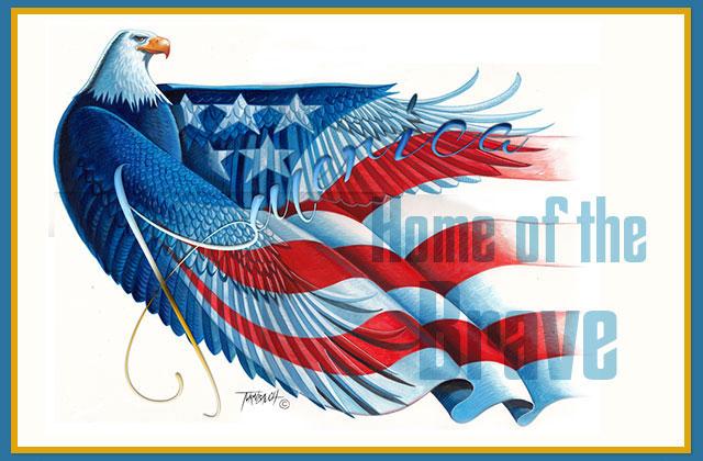 America Home of the Brave eCard