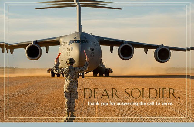 Dear Soldier, Thank you for answering the call to serve. eCard