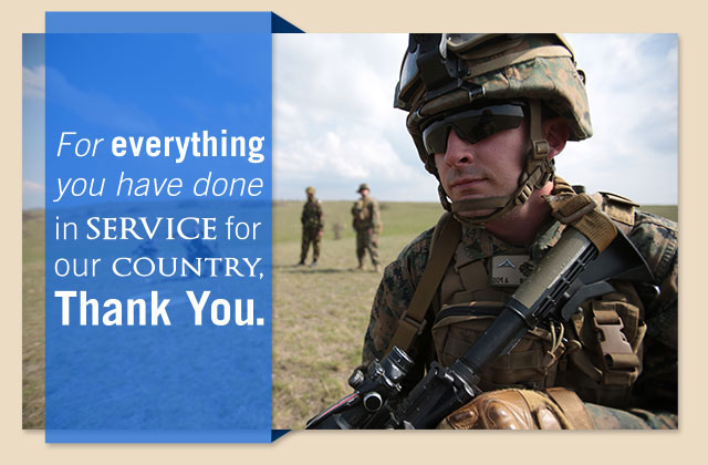 For everything you have done in service for our country, Thank You eCard
