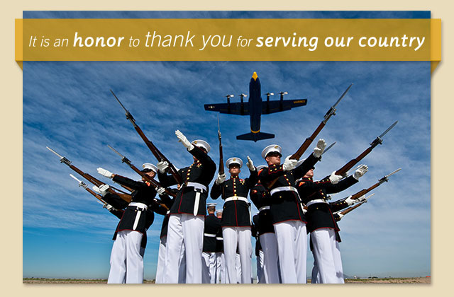 It is an honor to thank you for serving our country eCard