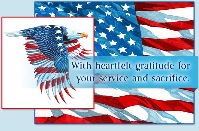 Thank You eCard With heartfelt gratitude for your service and sacrifice.