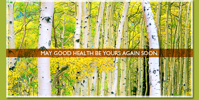 May good health be yours again soon.