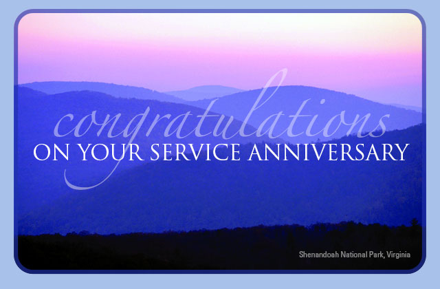 Congratulations on your service anniversary