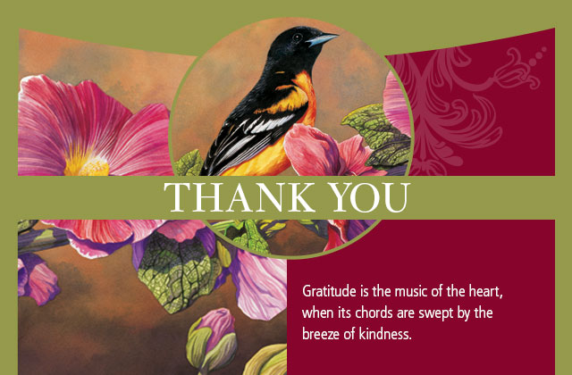 Thank You - Gratitude is the music of the heart, when its chords are swept by the breeze of kindness.