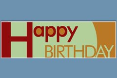 Shapes Letters Happy Birthday