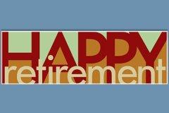 Shapes Letters Retirement