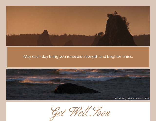 May each day bring you renewed strength and brighter times. Get Well Soon