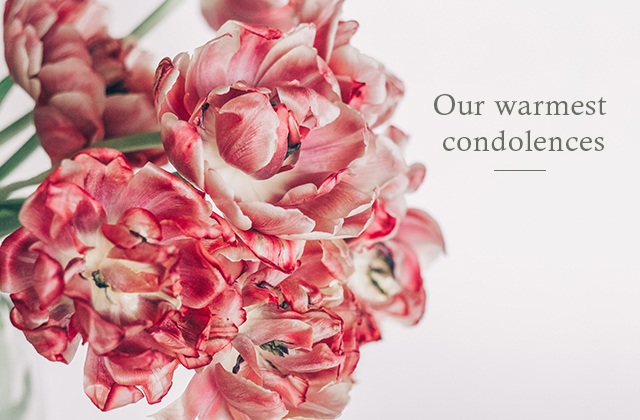 Our warmest condolences