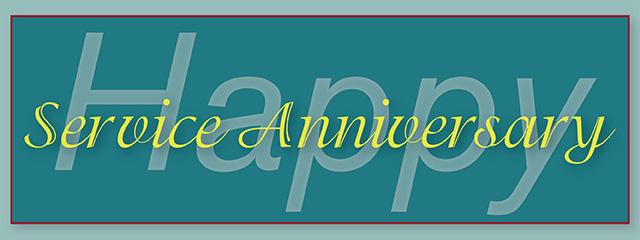 Happy Service Anniversary